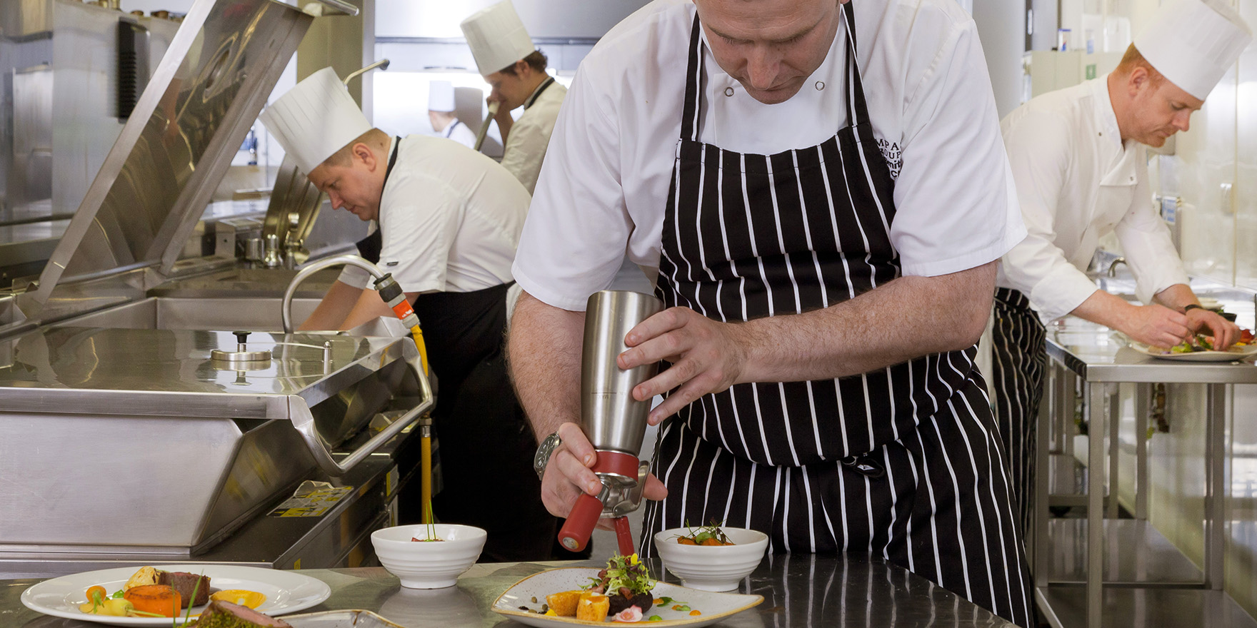 Our Executive Head Chef James Smith at work
